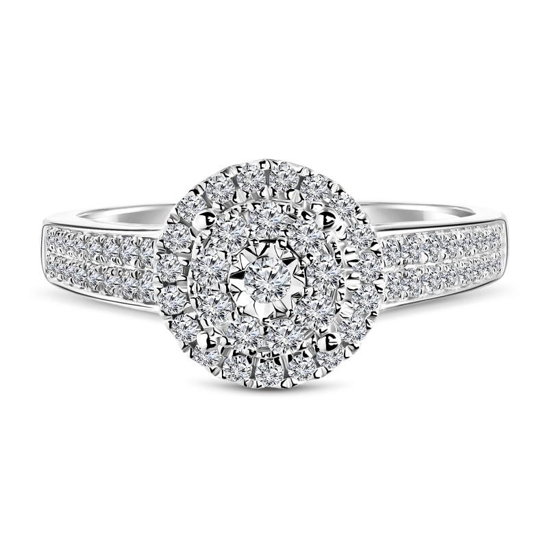 Witgouden ring met diamant 60579R001