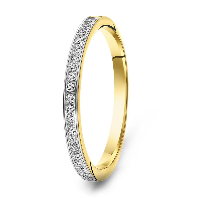 Geelgouden ring met diamant 62921R001