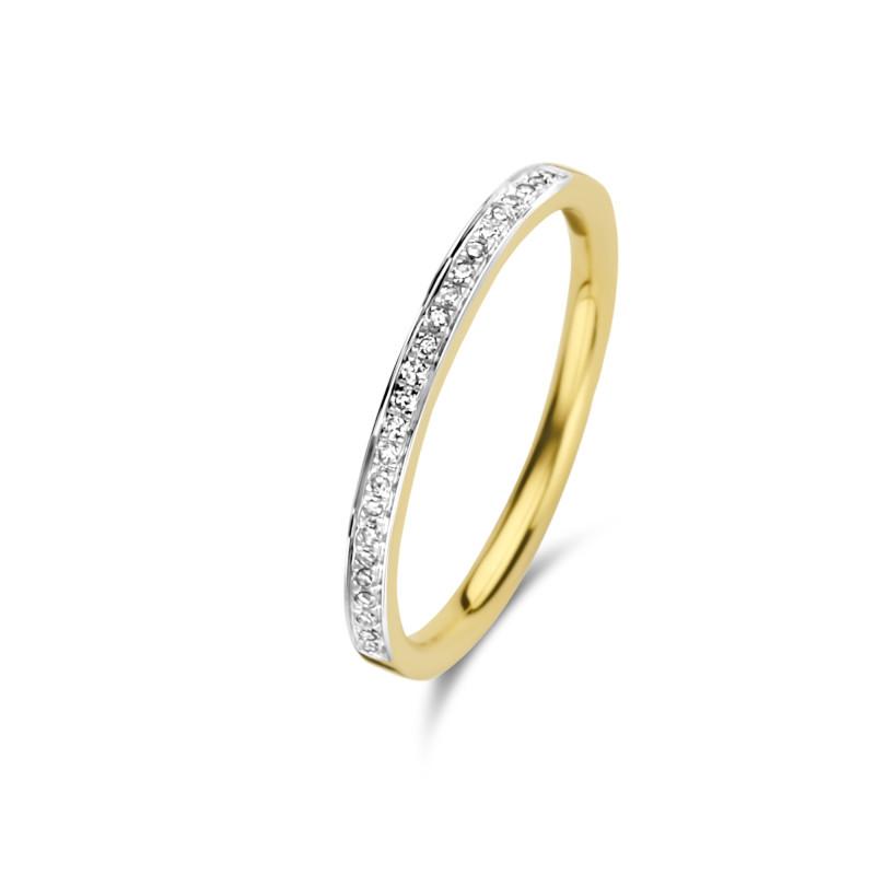 Geelgouden ring met diamant 63871R001