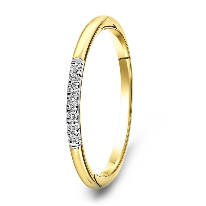 Geelgouden ring met diamant 72829R001