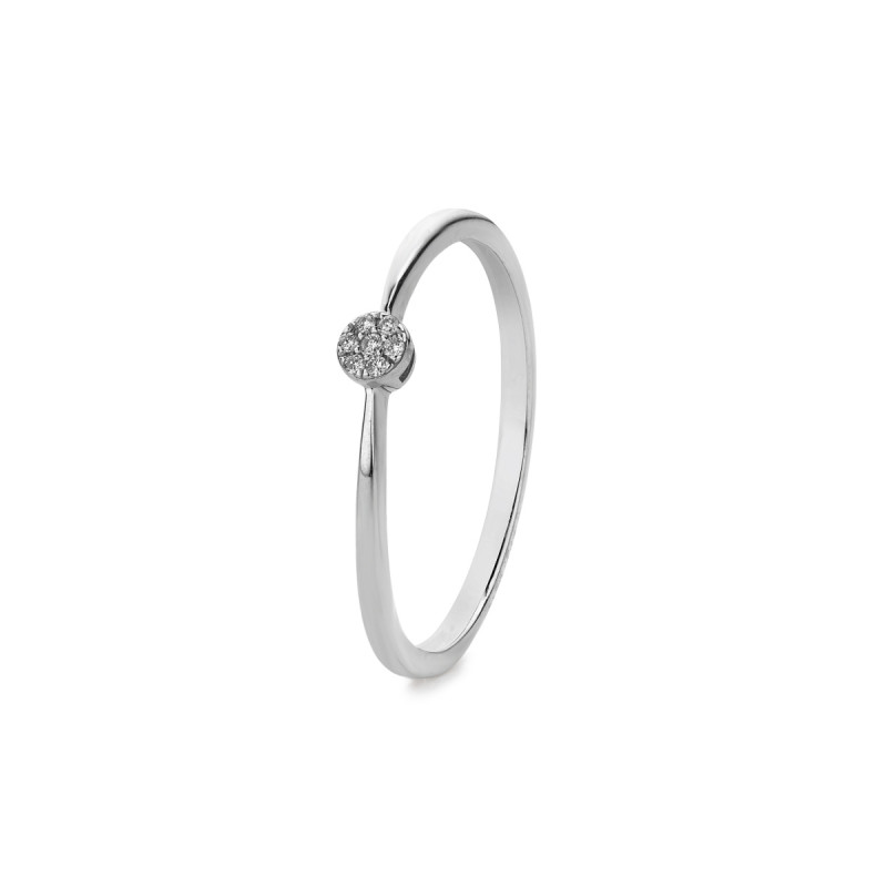 Witgouden ring 0,03crt R38585