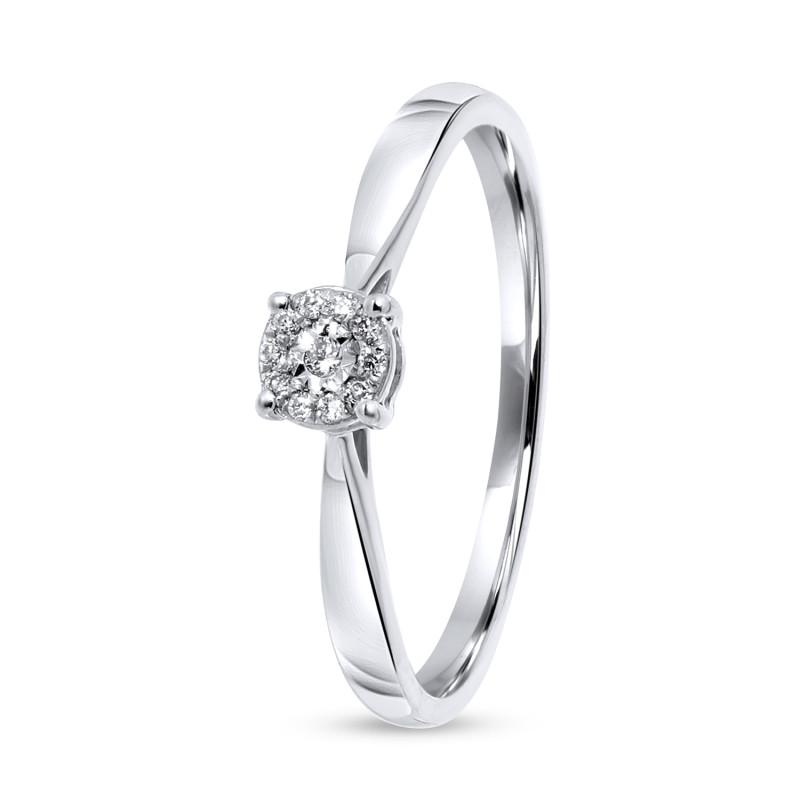 Witgouden ring met diamant R53536-W