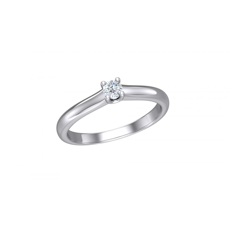 Witgouden diamanten solitair ring