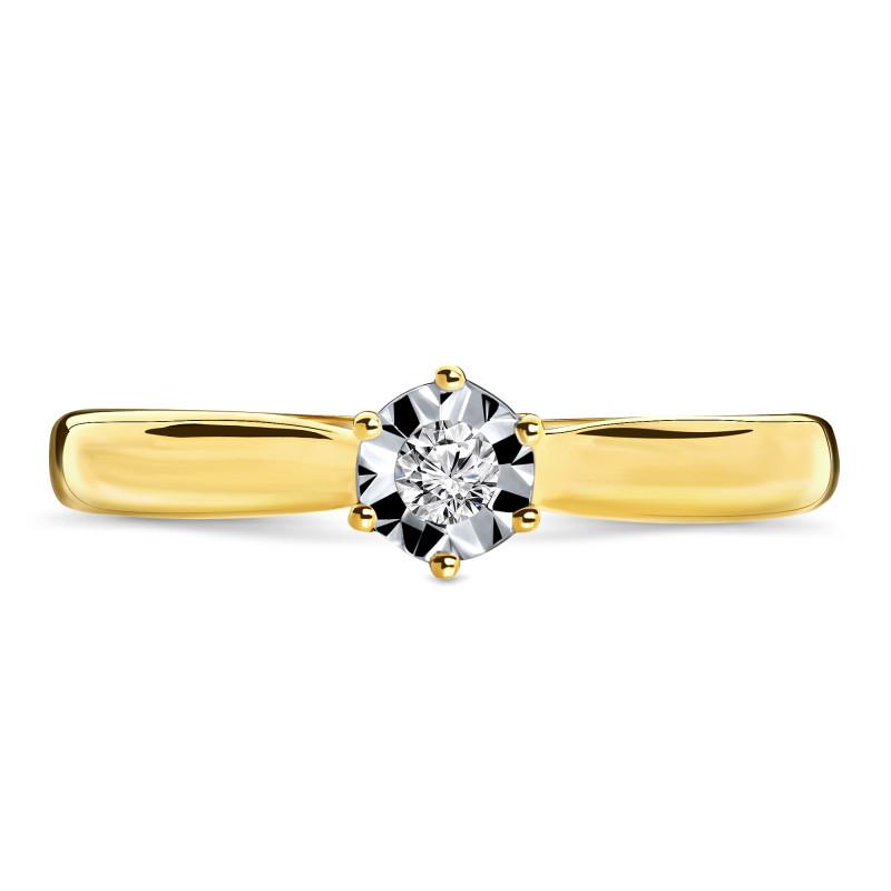 Geelgouden diamant ring SOL-Y611-010-G2