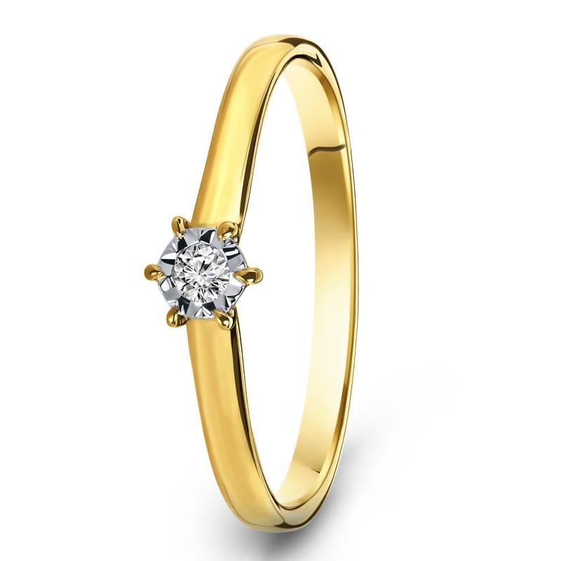 Geelgouden diamant ring SOL-Y720-005-G2