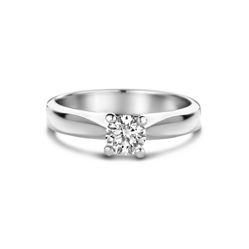 Witgouden ring met diamant SOL-W724-055-G1