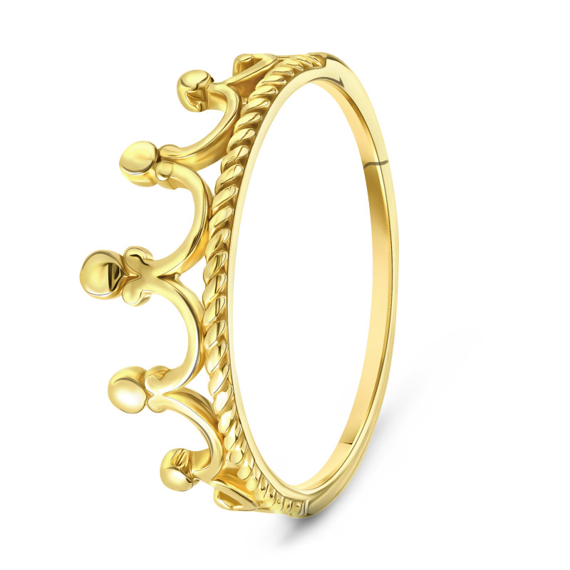 Geelgouden kroon ring 506236-Y