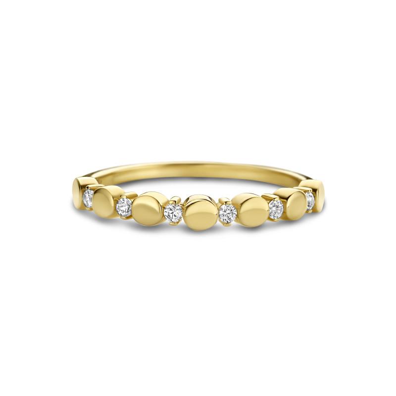Geelgouden ring met zirkonia 5593