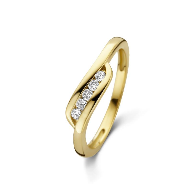 Gouden ring met zirkonia ICR2586-FCZ
