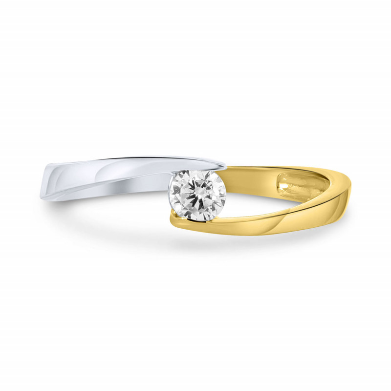 Bicolor ring ISMCR201328-YW