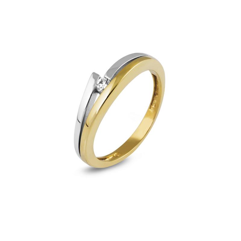 Gouden ring met zirkonia VCR203070FCZ