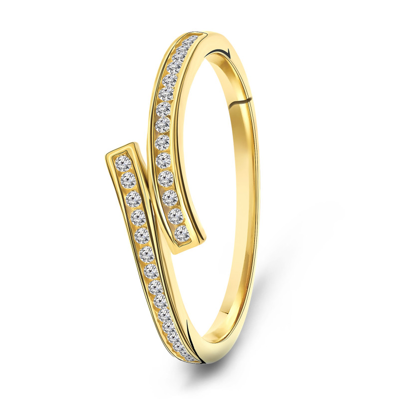 Gouden ring met zirkonia