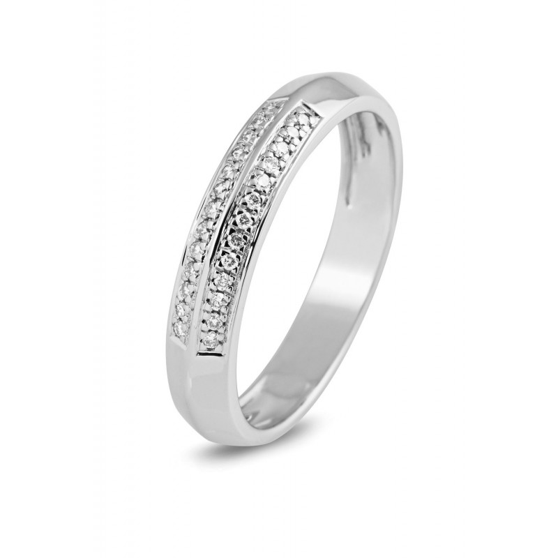 Witgouden ring met diamant 10346RD0008