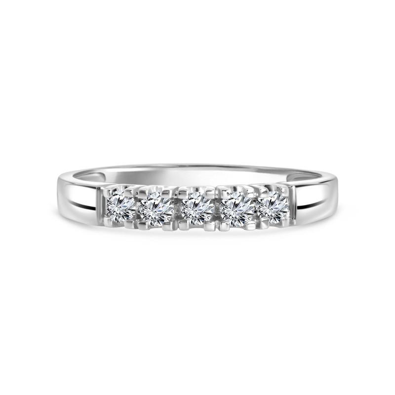 Witgouden rijring met diamant 001648AD