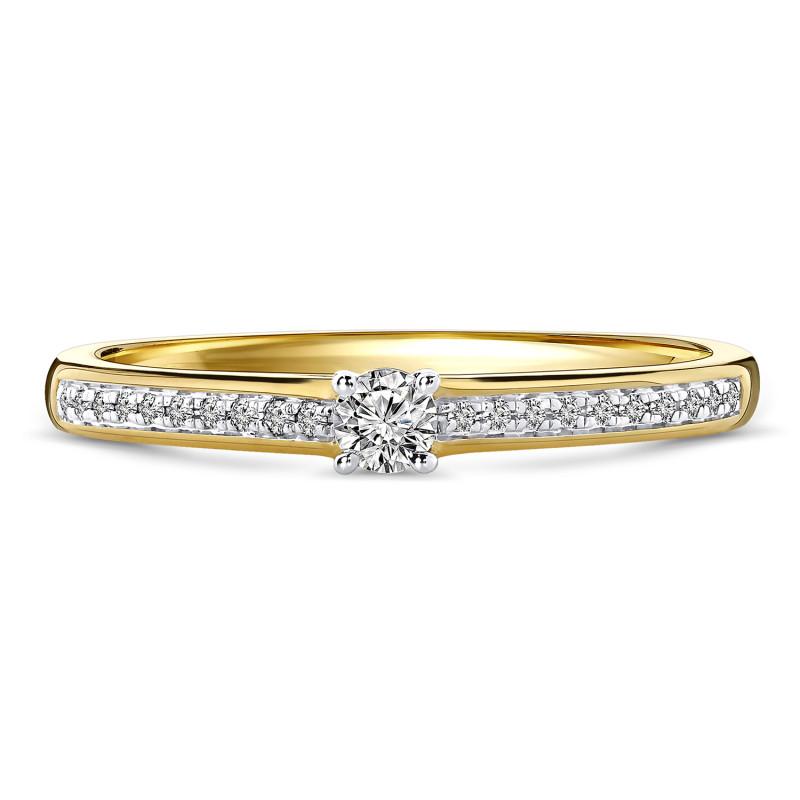 Geelgouden diamant ring 198XA3247QQQDRY