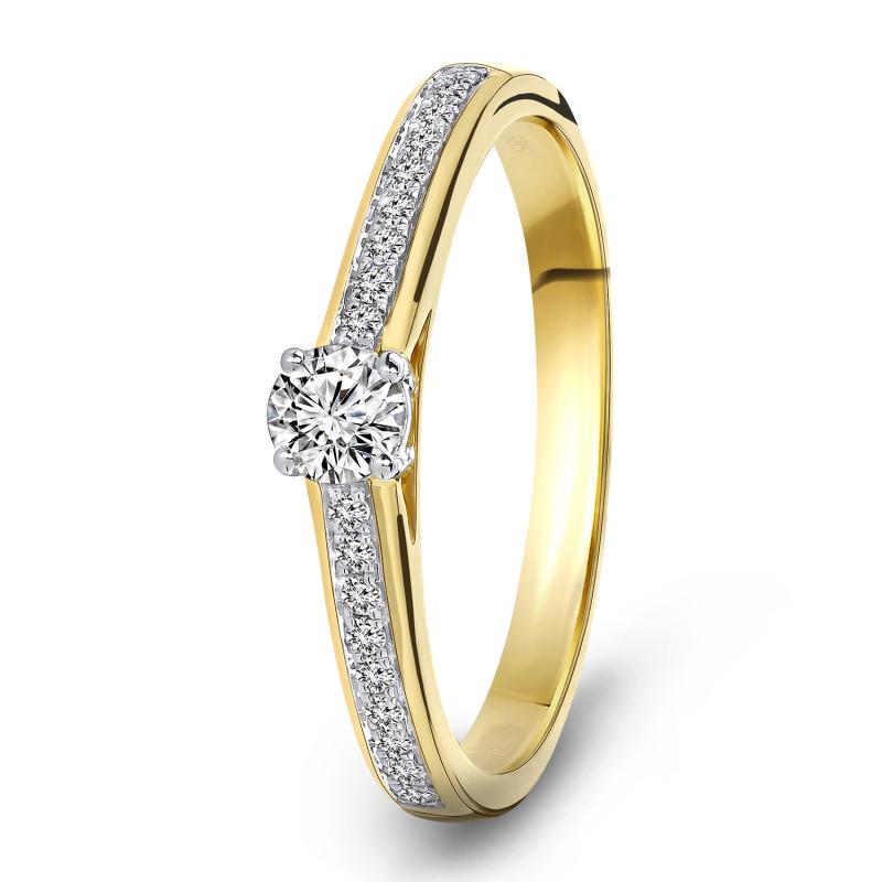 Geelgouden diamant ring 198XA3248QQQDRY