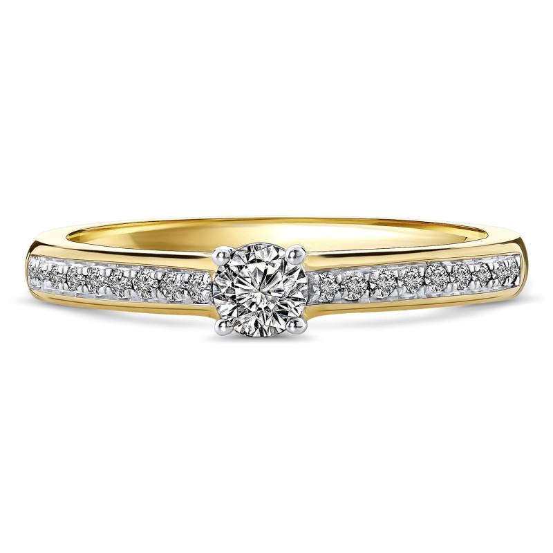 Geelgouden diamant ring 198XA3249QQQDRY