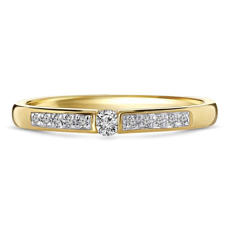 Geelgouden diamant ring 198XA3252QQQDRY