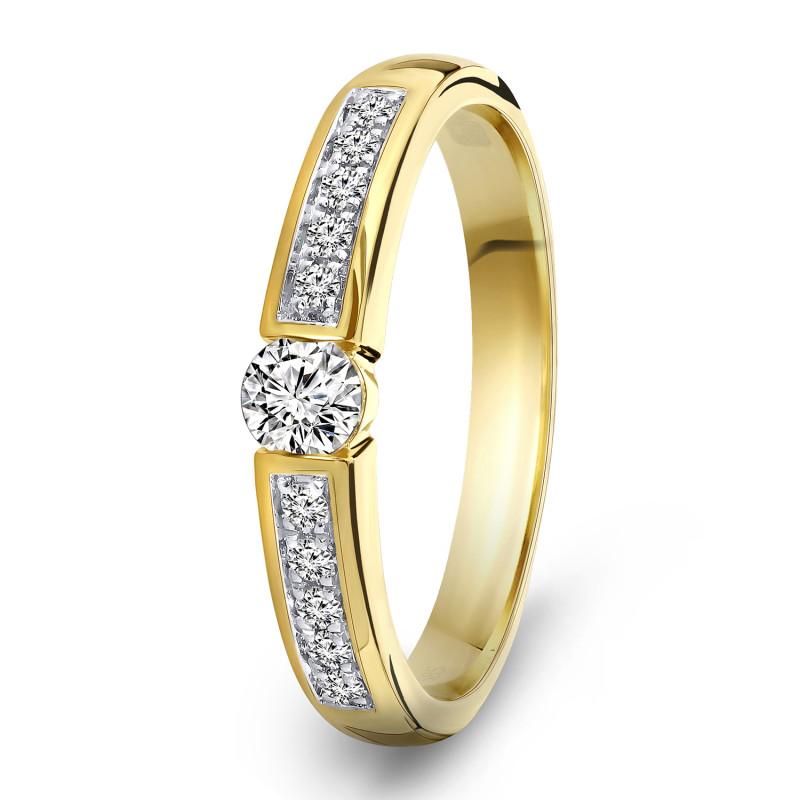 Geelgouden diamant ring 198XA3254QQQDRY