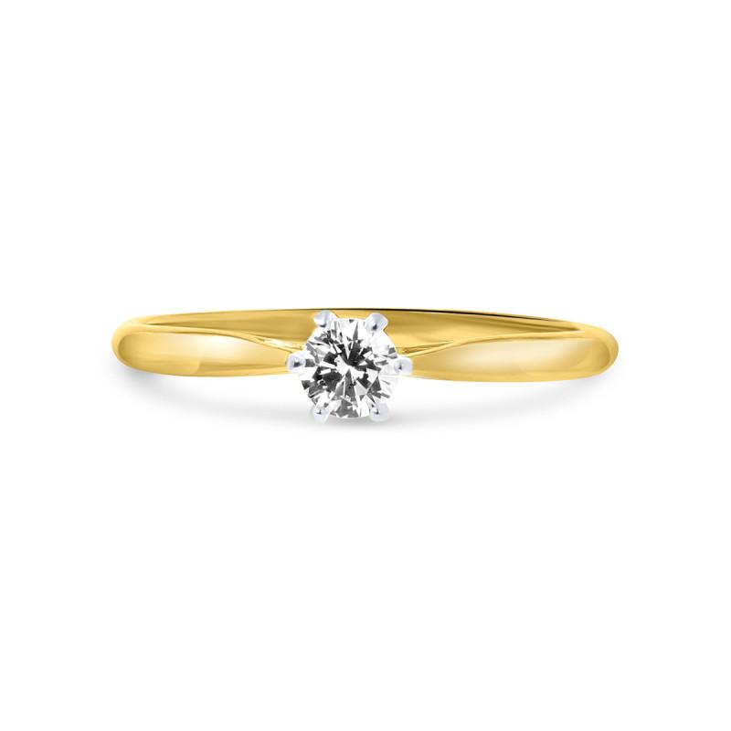 Geelgouden ring met zirkonia R01-SW-59297-Z
