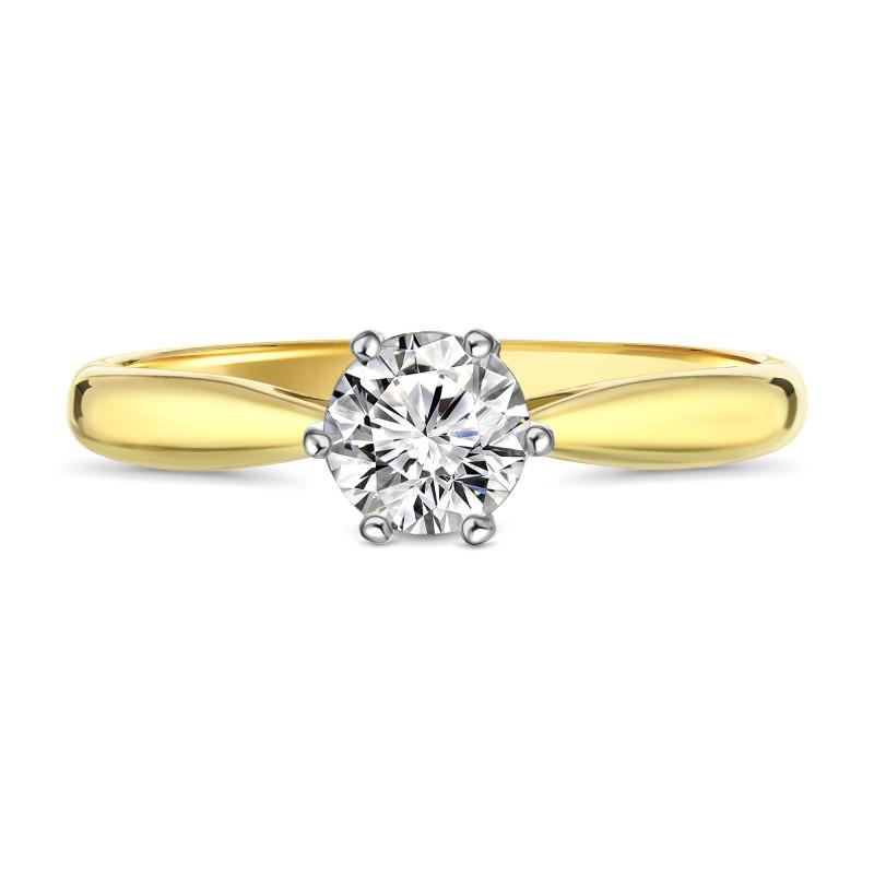 Geelgouden zirkonia ring 59299-Z-Y