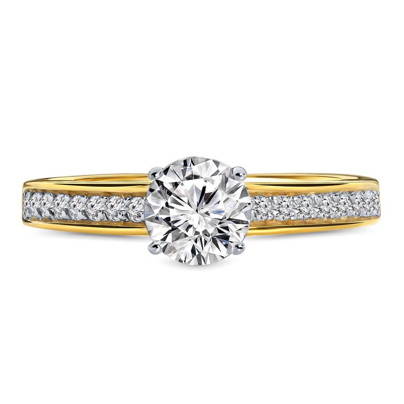 Geelgouden ring met zirkonia 59641-Z-Y