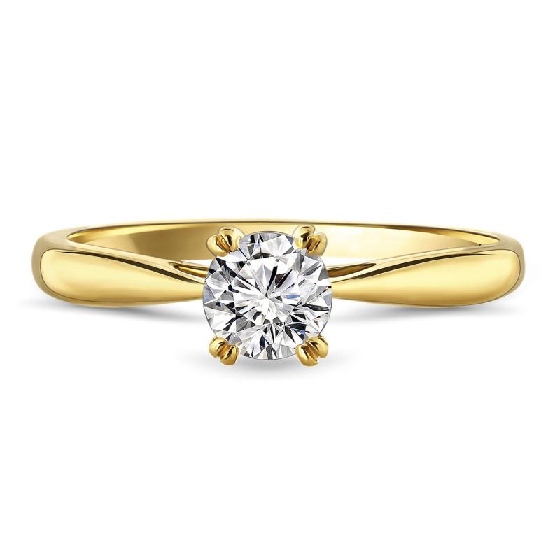 Geelgouden ring met zirkonia R03-59840-Z