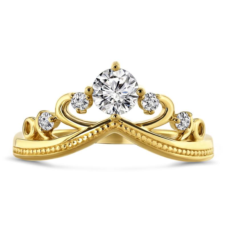Geelgouden ring met zirkonia R03-59849-Z
