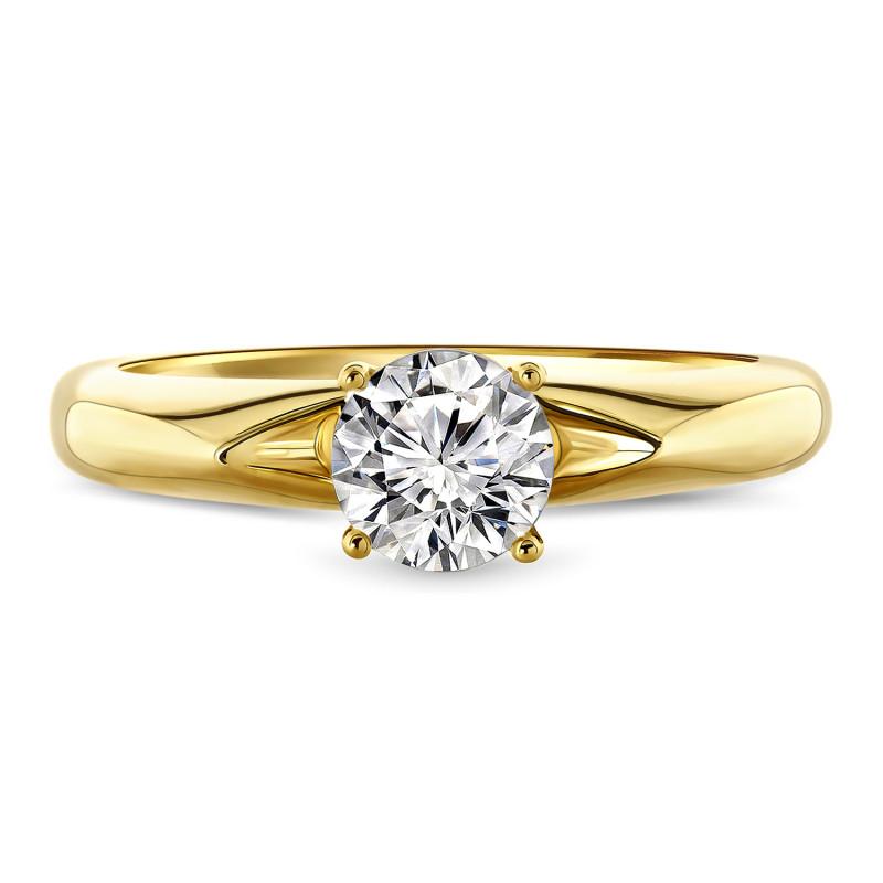 Geelgouden ring met zirkonia R03-59855-Z