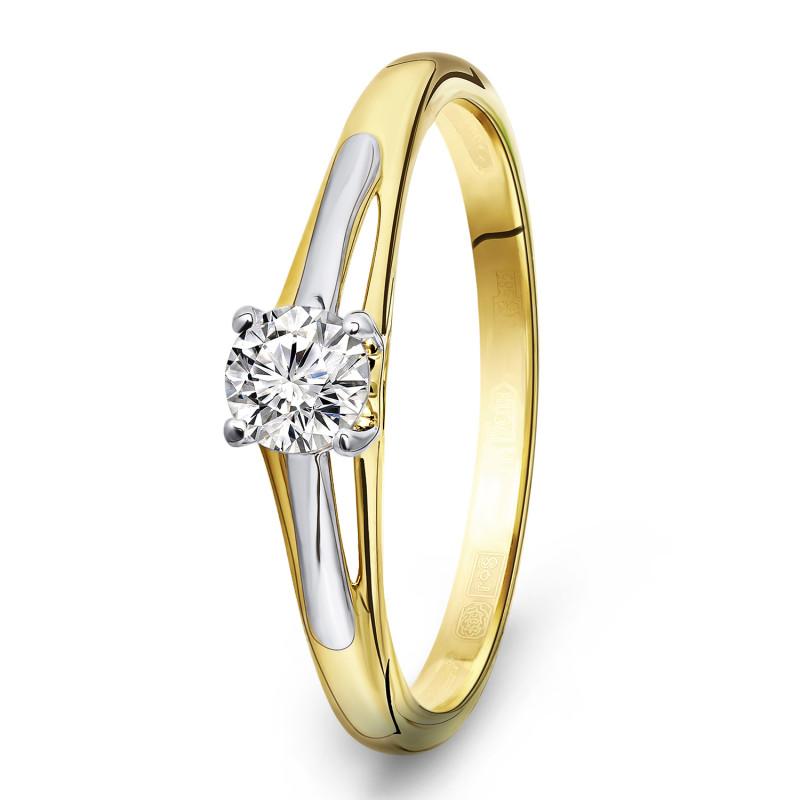 Gouden ring met zirkonia R03-59869-Z