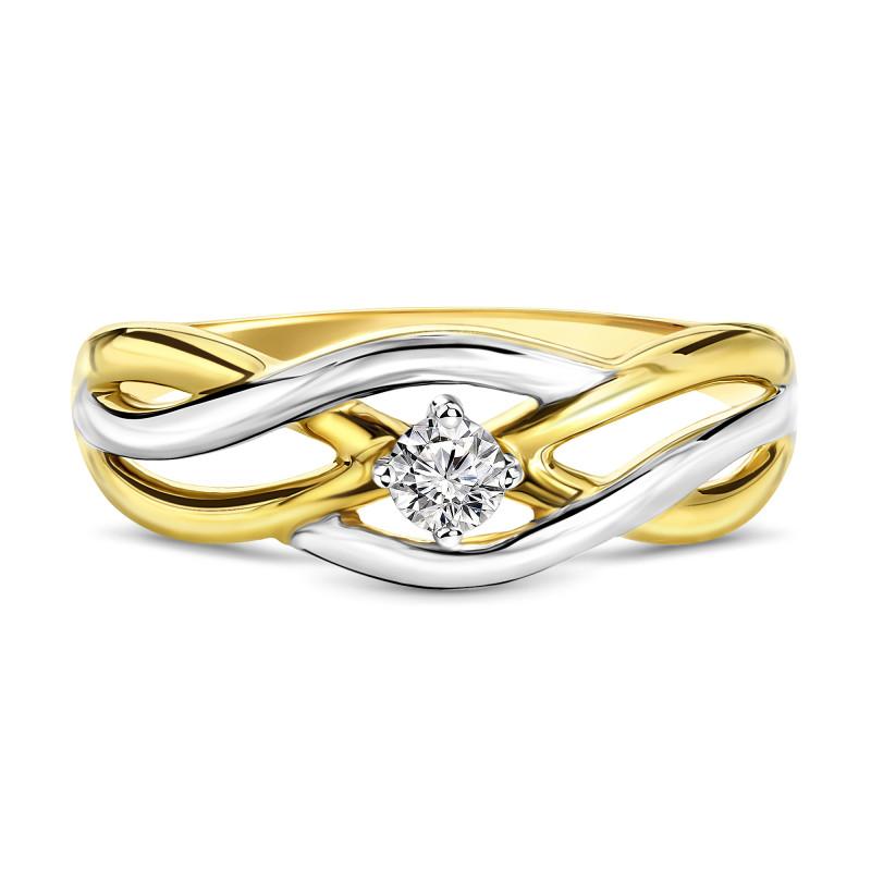 Gouden ring met zirkonia 59873-Z-Y