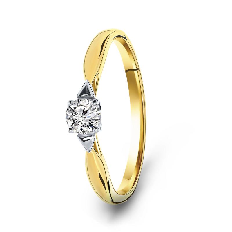 Gouden ring met zirkonia 59995-Z