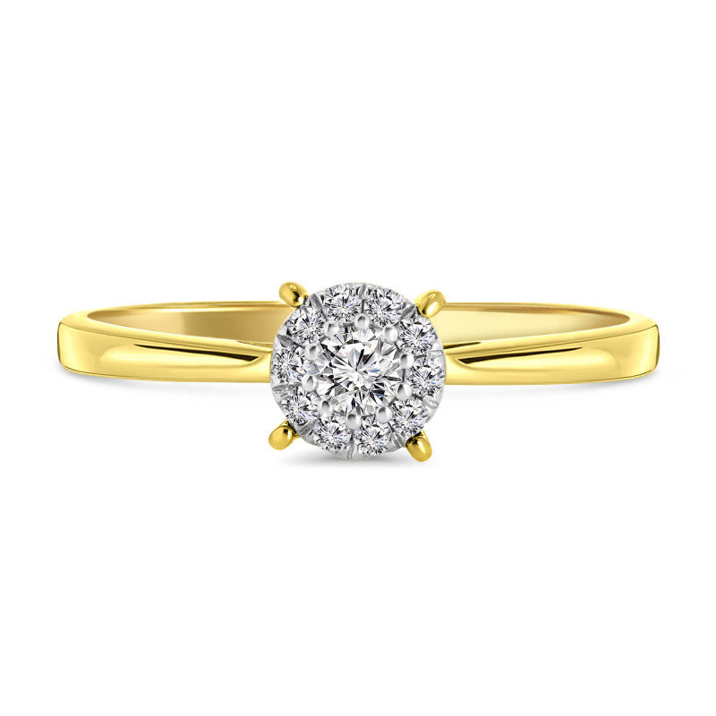 Geelgouden entourage ring 60121-Z-Y
