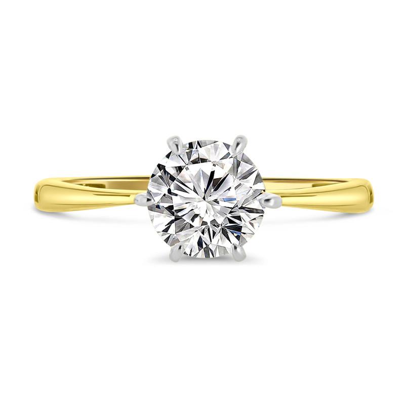 Geelgouden zirkonia ring 60160-Z-Y