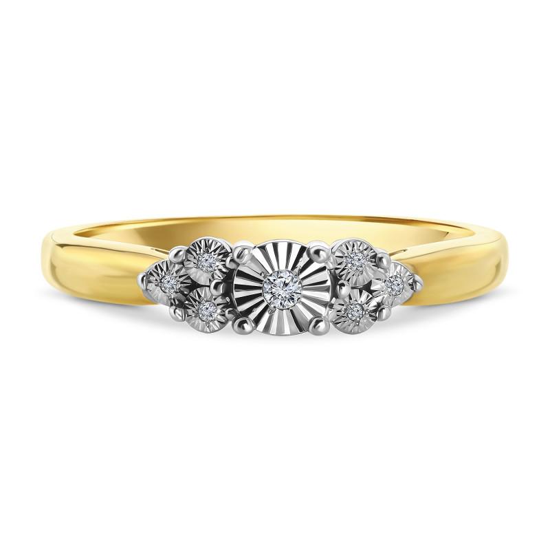 Geelgouden ring met diamant PL-35287