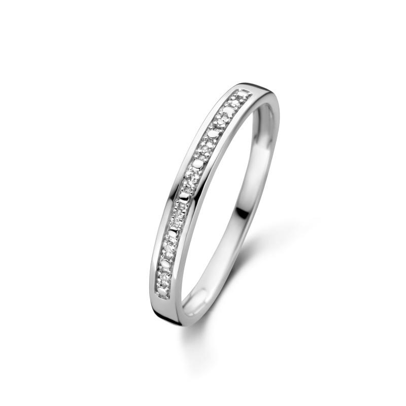 Witgouden ring met diamant R01-BS-001