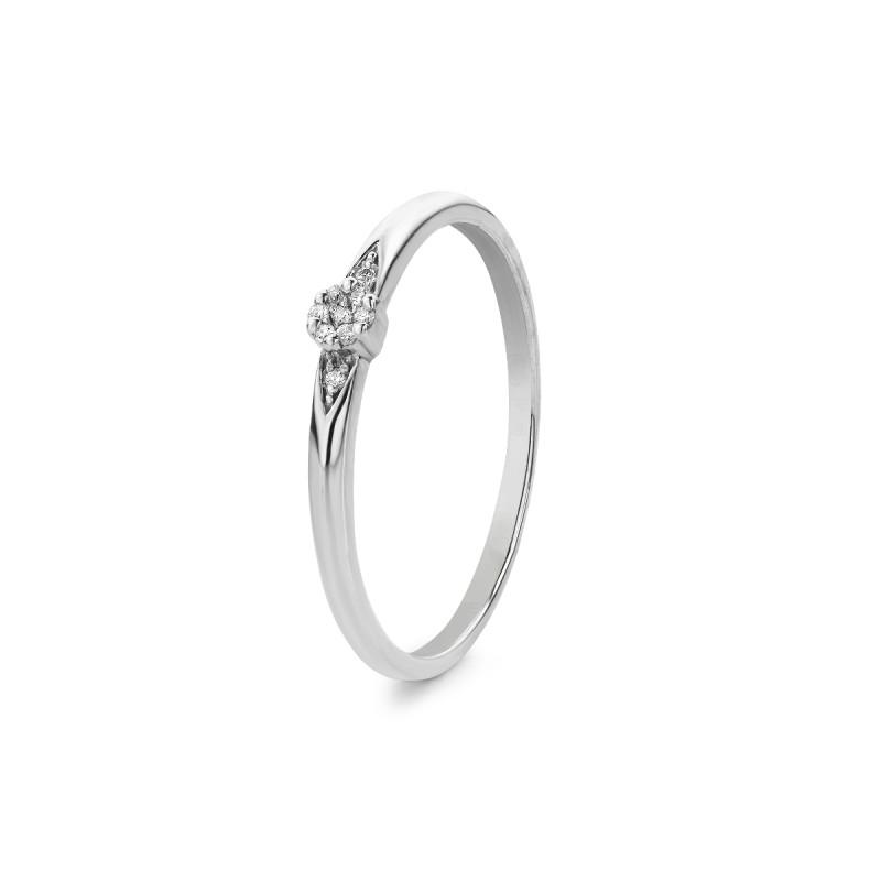 Witgouden ring met diamant R01-BS-0197