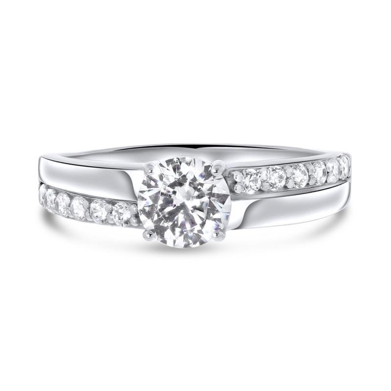 Witgouden ring met zirkonia R01-SW-59294-Z
