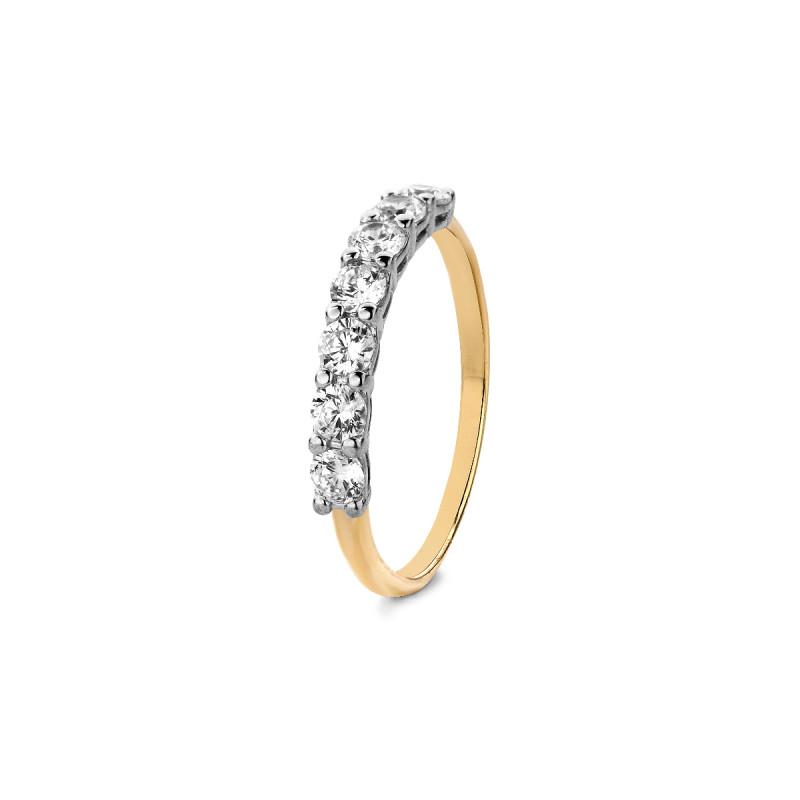 Gouden ring met zirkonia R01-Z-RMS-16