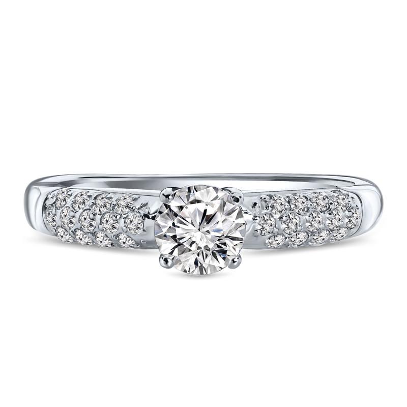 Witgouden ring met zirkonia R03-59234-Z-W