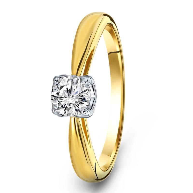 Geelgouden ring met zirkonia R03-59883-Z
