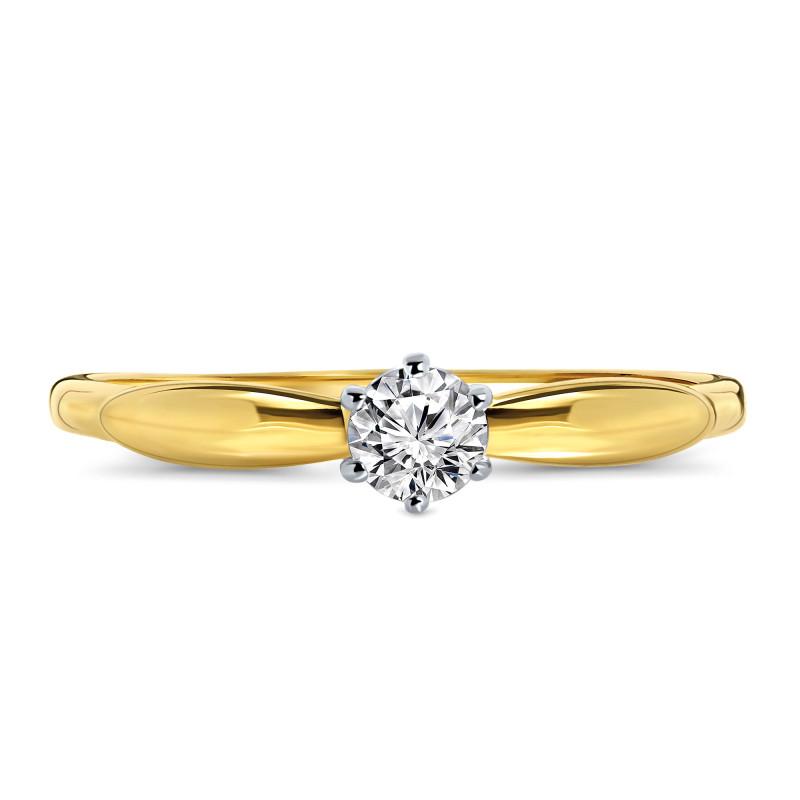 Geelgouden ring met zirkonia R03-59903-Z