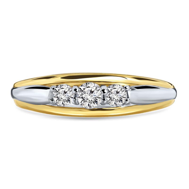 Gouden bicolor ring met zirkonia R03-59915-Z
