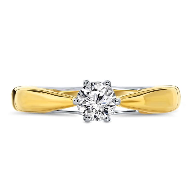 Geelgouden ring met zirkonia R03-59947Z-RH-M