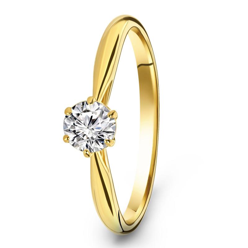 Geelgouden ring met zirkonia R03-SW59298-Z