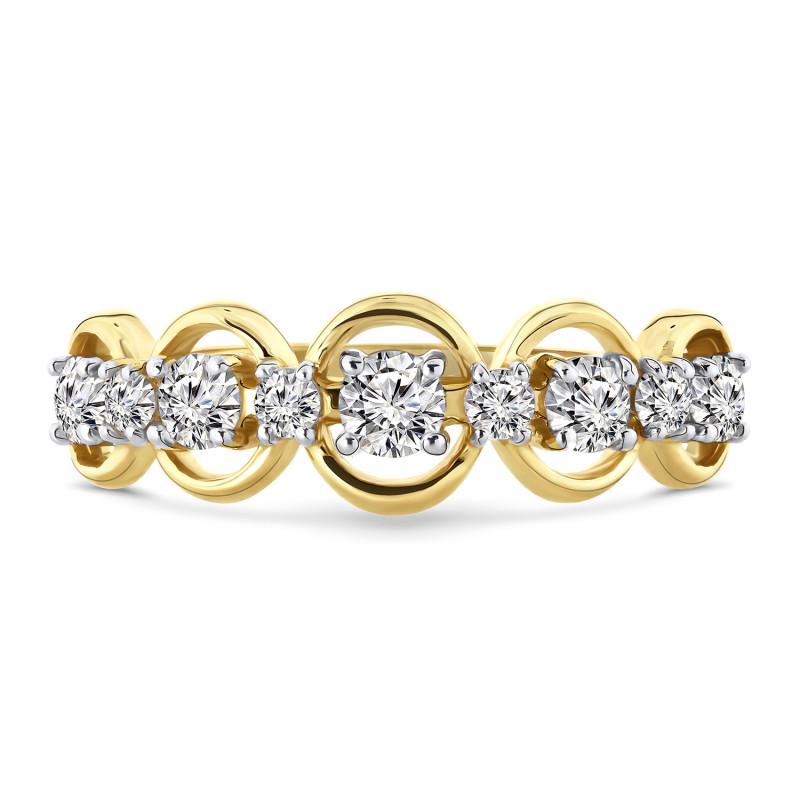 Geelgouden ring met zirkonia R0359842-Z-Y
