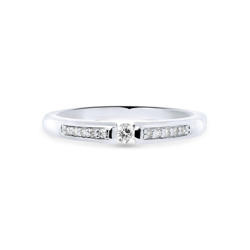 Witgouden ring met diamant R03-SL19-005-G2