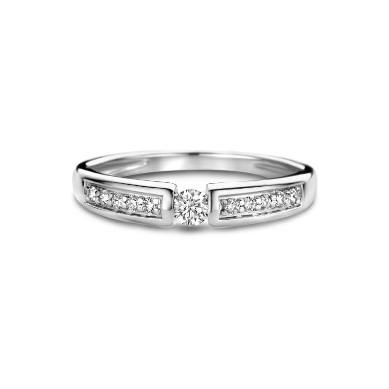 Witgouden ring met diamant R03-SL19-010-G2