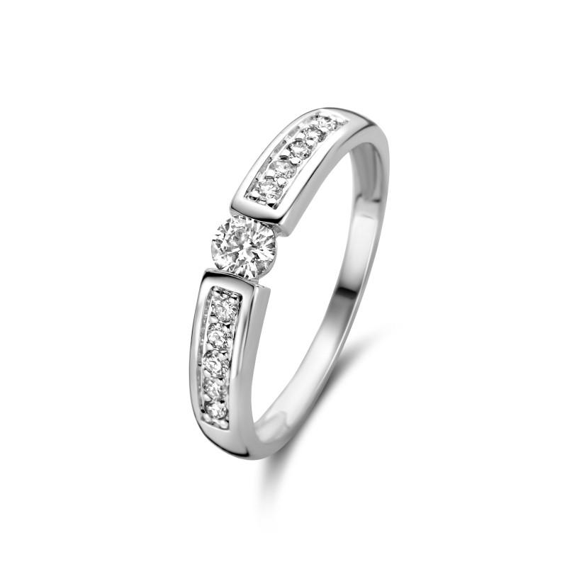 Witgouden ring met diamant R03-SL19-020-G2