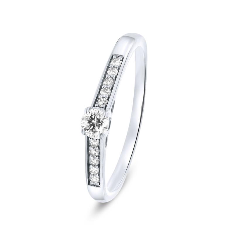 Witgouden ring met diamant R03-SL20-015-G2